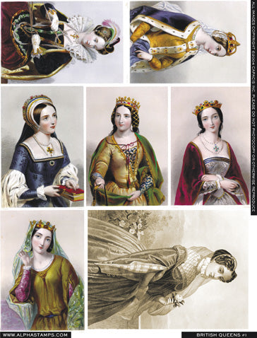 British Queens #1 Collage Sheet