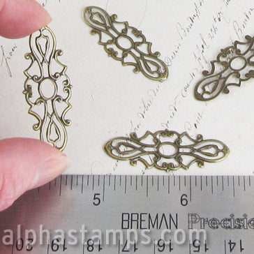 38mm Long Bronze Filigree