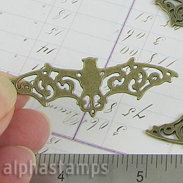Bronze Filigree Metal Bat