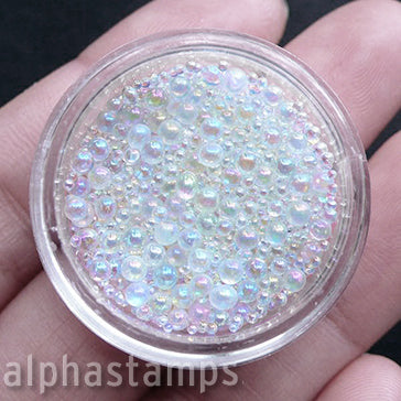 Iridescent Water Bubble Microbead Mix