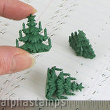1 Inch Victorian Christmas Trees w Candles