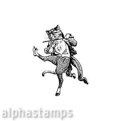 Cat & Fiddle Rubber Stamp