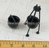 3 Inch Black Plastic Cauldron