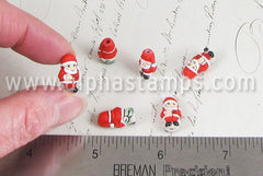 Tiny Ceramic Santa Claus Bead