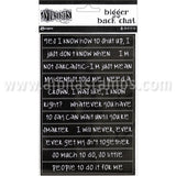 Dyan Reaveley Dylusions Big Back Chat Stickers - Black