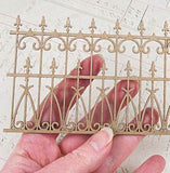 Mini Chipboard Wrought Iron Fence