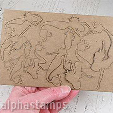 Chipboard Mermaids Miniatures