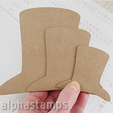 Chipboard Top Hat Blanks