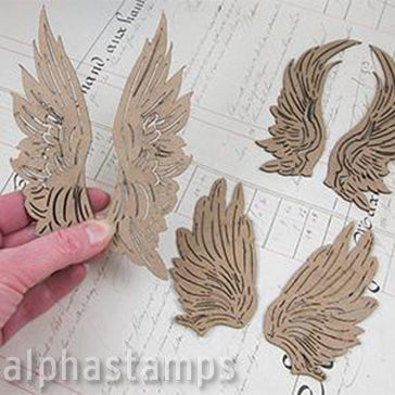 Chipboard Wings Assortment