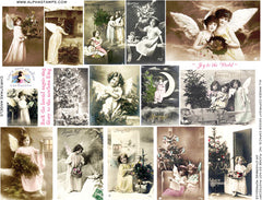 Christmas Angels Collage Sheet