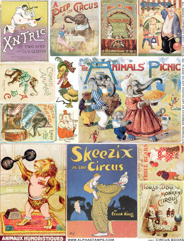 Circus Books Collage Sheet