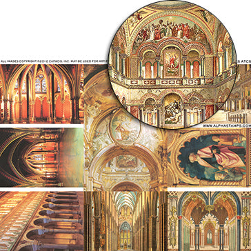 Colorful Arches ATCs Collage Sheet