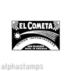 Comet Matchbox Label Rubber Stamp*