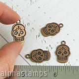 Antique Copper Skull Charms