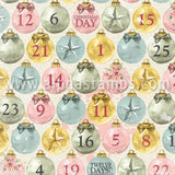 Carousel Christmas Believe Countdown Scrapbook Paper