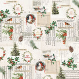 Country Christmas Wonderful Life Scrapbook Paper