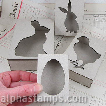 Easter Covers for Mini Shadowboxes - Set of 4