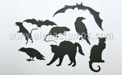 Black Creepy Critters Shape Set