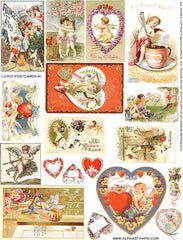 Cupid Postcards #1 Collage Sheet