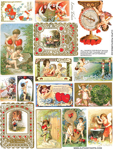 Cupid Postcards #2 Collage Sheet