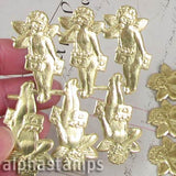 Gold Dresden Cupid - Set of 6