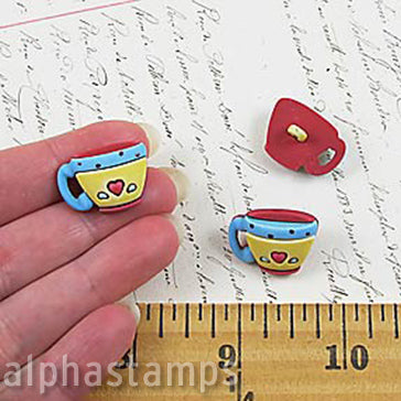 Coffee Cups Buttons