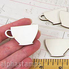 Wood Tea Cup Cut-Outs*