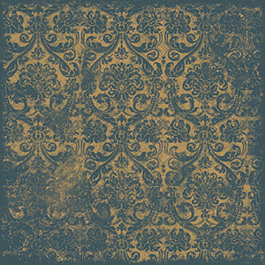 Blue Damask Wallpaper Scrapbook Paper