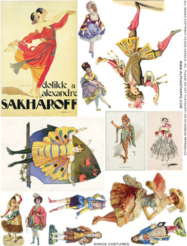Dance Costumes Collage Sheet