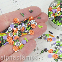 Dark Halloween Polymer Clay Slice Mix
