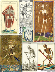 Death Cards Collage Sheet
