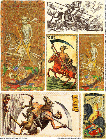 Death Rides a Horse Collage Sheet