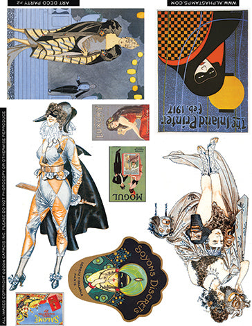 Art Deco Party Collage Sheet