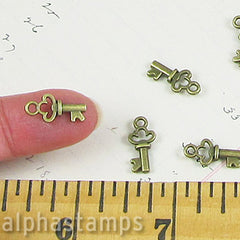17mm Bronze Diary Keys