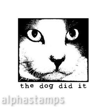 The Dog Did It Rubber Stamp