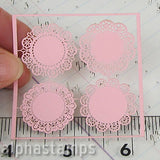 Tiny Doilies - Pink - Set of 4