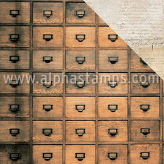 Anthology Scrapbook Paper - Apothecary Drawers