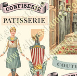 A Tiny French Dress Shop Collage Sheet
