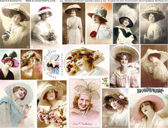 Easter Bonnets Collage Sheet