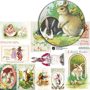 Easter Bunnies Collage Sheet