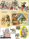 Elephants #3 Collage Sheet