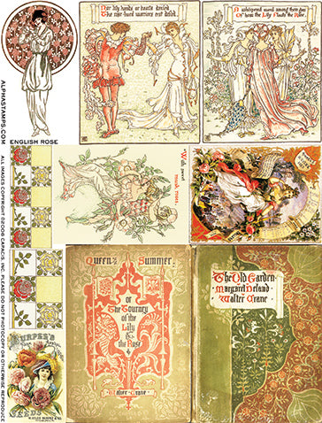 English Rose Collage Sheet