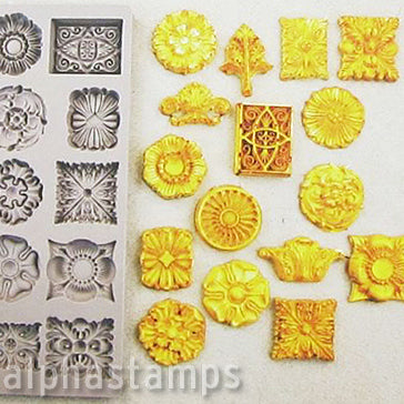 Redesign Silicone Mold - Etruscan Accents