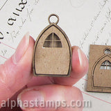 Chipboard Fairy Door Charm - Set of 2