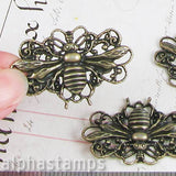 Large Antique Bronze Bee Pendant