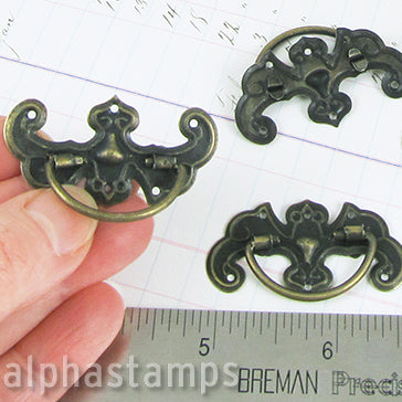 Bronze Drawer Handle with Fancy Plate