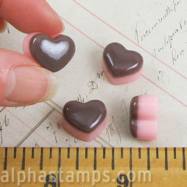 Heart-Shaped Mini Cake with Chocolate Frosting