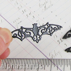 Black Filigree Metal Bat