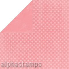 Flamingo Double Dot Textured Scrapbook Paper
