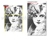 20's Flapper Rubber Stamp*